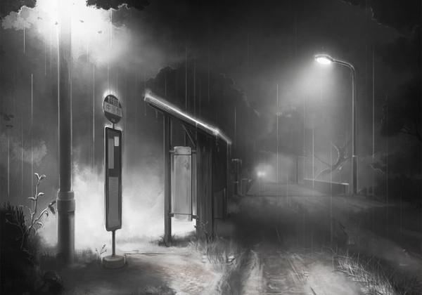 バス停 きさらぎ駅